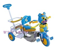 high quality cartoon music double twins trolley tricycle,twins bike,twins trike