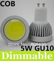 2013 Newest COB Dimmable Led Spotlight 120 Angle GU10 5W Warm White 3000K Led Bulbs 110-240V