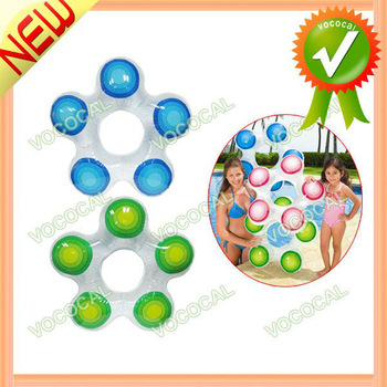 Inflatable Kids Children Swimming Float Swim Ring Trainer W/ Star Shape, Free Shipping, Dropshipping