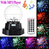 Rechargeable Auto Voice-activated Mini LED Crystal Magic Ball Disco DJ Party Stage Light Lighting with MP3 Player 110V-240V