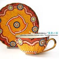 Luxury series . royal fashion royal coffee cup and saucer sunshine gift box set