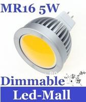 Super Bright COB 5W MR16 12V Led Bulb Light Lamp Dimmable Warm White 120 Angle Led Down Light 500 LM