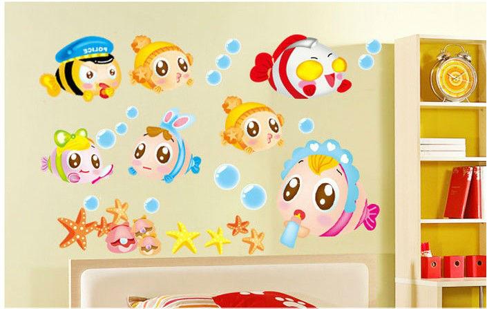 Nemo Sea Cartoon Cute Baby Room Bathroom Home Decoration Wall Stickers