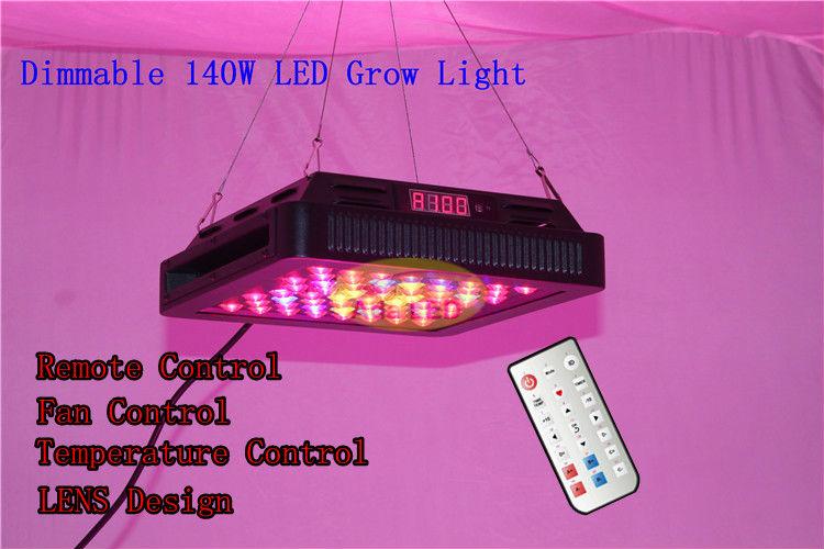 Novo 2013 hidropônico Led 140W High Power 60 3W Floração Leds Lens Romote Regulável Indoor crescer Usina Início Painel Lâmpada Garden(China (Mainland))