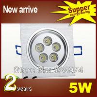 BPCS-5 Dimmable 5W 5*1W Square Led Down Light  Lamp 120 Angle Led Fixture Ceiling Light 85-265V