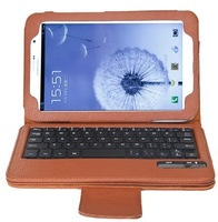 Detachable  Bluetooth keyboard folio case  for Samsung  Galaxy Note 8.0 N5100/N5110