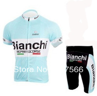 Best Selling 2011 Bianchi High Quality Polyester Cycling Jersey(Maillot)+short Or Jersey Only/Made From High Quality Polyester