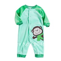 5pc/lot Original Carter's monkey cotton Long Sleeve Baby Romper baby jumpsuit
