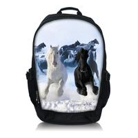 "Free Shipping Horse Laptop Netbook Backpack Bag 15.6"" Double Shoulder School BookBag"