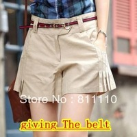 Trend Knitting  2013 new summer Fashion loose and comfortable high waist drape Shorts hot pants women plus-size