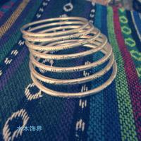 Miao silver bracelet handmade national trend vintage unique miao silver