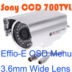 "1/3""Sony Effio-E Super HAD CCD Color 700TVL 36LEDs IR CCTV Color Security Bullet Camera(China (Mainland))"