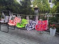 Free Shipping Adualt/child Swing Chair Guaranteed 100% cotton sponge cushion garden hanging hanging chair