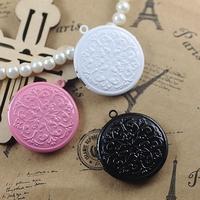 32*7mm mix pink/white/black painted color enamel charms pendants, metal  pendants charms