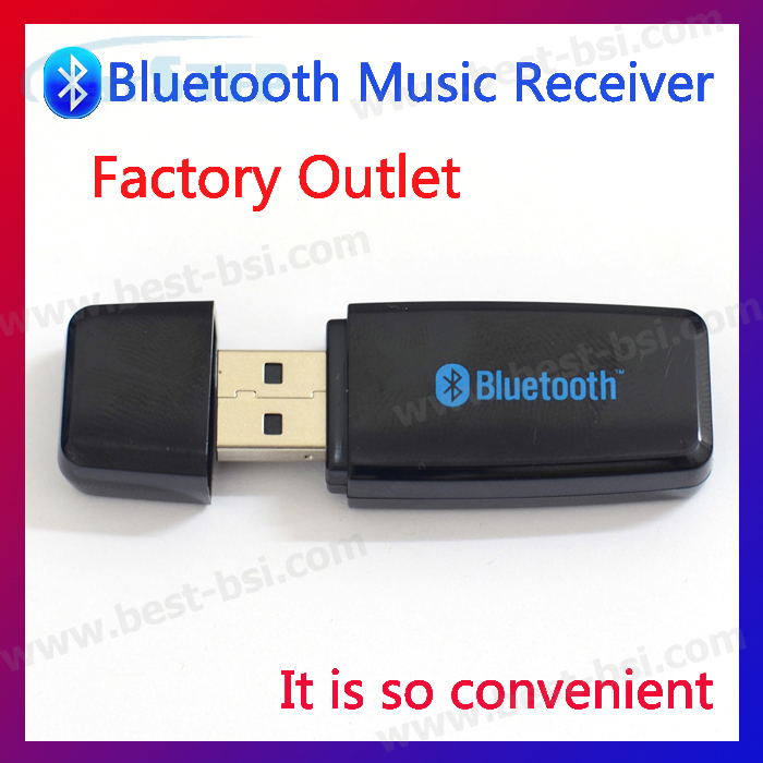 Free shipping 3.5mm Bluetooth Wireless Adapter USB Audio Receiver Dongle For Stereo Music Speakers for iPhone iPad(China (Mainland))