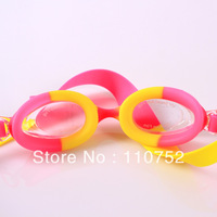 Free China Post shipping colorful silicone swim goggles