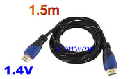 1PC, High Speed 1.5m 5ft HDMI Cable 1.4V 1080P HD w/ Ethernet 3D Ready HDTV 150cm,wholesales