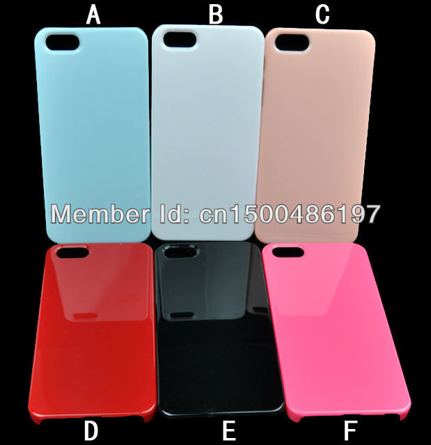 HOT! Sweet Candy Colorful Pure Color Basic Hard Case for iPhone 5 5G, Wholesale Free Shipping 10pcs(China (Mainland))