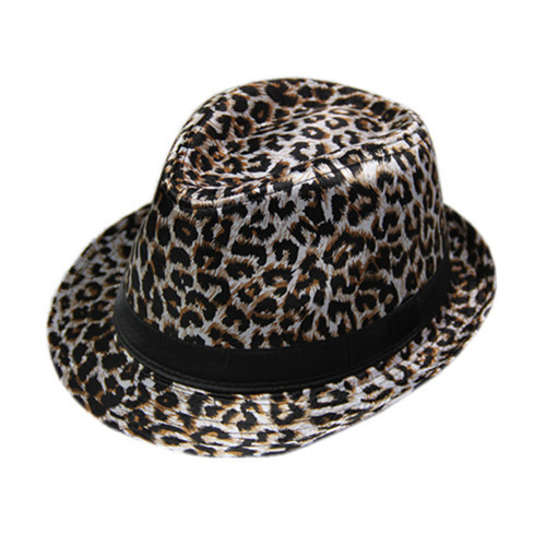 2012 male women's leopard print fashion hat jazz cap fedoras lovers hat(China (Mainland))