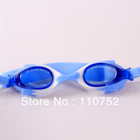 factory wholesale free shipping children kids colorful soft silicone swimming goggles glasses