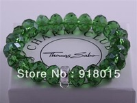 Free Shipping Wholesale for fashion Charm Thomas Beads Crystal Glass Jewelry  Bracelet  Chain TM06