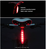 2PC/Lot Bicycle rear light 4 Mode 5 led Tail Rear Safety Warning Flashing Bike Bicycle Flashlight Light Lamp