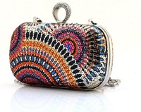 beautiful  women day Clutch bag  Knuckle Rings evening bag , Rhinestone Fingers Rings  shoulder bag ,free shipping