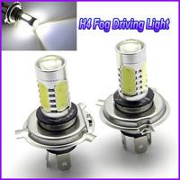 2x H4 Car light White LED Fog Bulb Cree Q5 7.5W Fog Driving Light bulb 8-24V