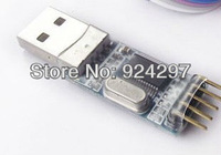 USB to TTL / USB-TTL / STC Microcontroller Programmer / PL2303 in Nine Upgrades Plate With a Transparent Cover 10PCS/LOT