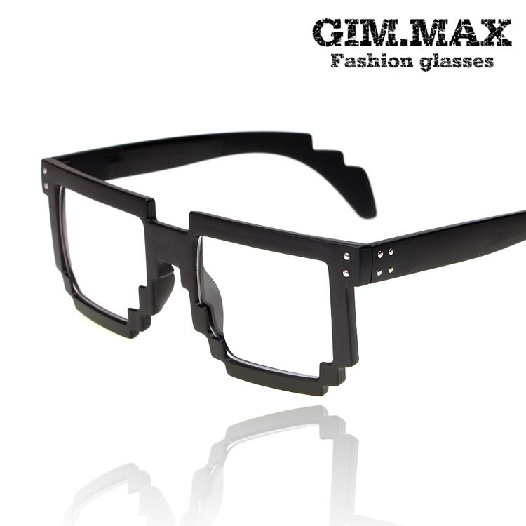 Bap gimmax zelo glass frame mosaic plain mirror fashion glasses(China (Mainland))