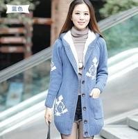 Autumn and winter women large gentlewomen school wear juniors clothing sweater outerwear