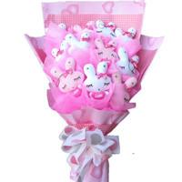 2013 New Gift Free shipping Cartoon bouquet rabbit doll bouquet doll bouquet birthday gift girls graduation gift