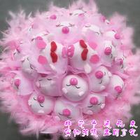 2013 New Gift Free shipping Cartoon bouquet shote doll bouquet dolls bouquet birthday gift girls graduation gift