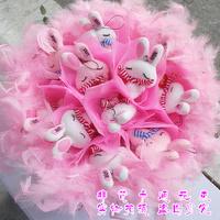 2013 New Gift Free shipping Cartoon bouquet scarf rabbit bountyless birthday gift girls male bride holding flowers