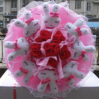 2013 New Gift Free shipping Cartoon bouquet rabbit birthday gift bountyless mother day gift