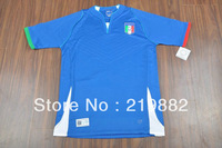 Free shipping Italy soccer jersey 13-14 best thai quality Italy home blue soccer football jersey, Italy soccer uniforms