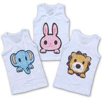Free shipping  children  Baby Toddler Kids Boy Girl Clothes Sleevesless Top T-shirt for summer