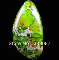 E0561  Free Shopping Beautiful Romantic Fashion Natural Sea Sediment Jasper&Pyrite Cab 1pcs/lot