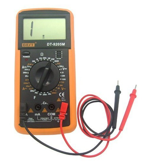 "2.8"" LCD Handheld Digital Multimeter (Voltage + Current + Resistance + Capacitance /1*6F22)(China (Mainland))"