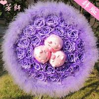 2013 New Gift Free shipping Mimi pig cartoon bouquet shote bountyless doll bouquet birthday gift