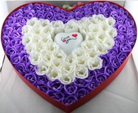 2013 New Gift Free shipping Cartoon bouquet 100 clusters of soap flower gift box home products gift