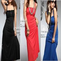 Sexy women's 2012 spaghetti strap long design fashion formal dress one-piece dress banquet