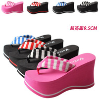 Ultra high heels flip flops swing shoes ultra high heels platform flip flops female slippers