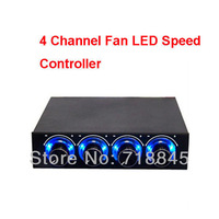 """1 Pcs 3.5"""" Computer Case CPU HDD 4 Channel Fan Blue LED Speed Controller Control Cooling"""