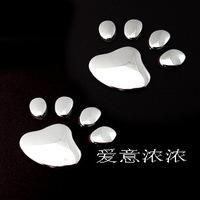 Print sticker bear paw print sticker 3 d post body modification decorative stickers