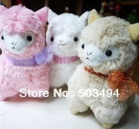 EMS 20pcs/Lot Free Shipping Japanese Arpakasso amuse cute Sheep plush Toy  Plush alpaca 3 colors 18cm high quality Doll