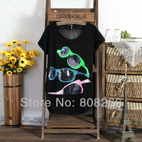 free shipping 2013 summer new fashion short sleeve t shirt women
