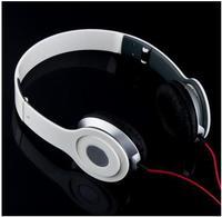 White Free shipping mp3 mp4 mobile phone earphones computer headband earphones mega bass headphone folding headband headphones