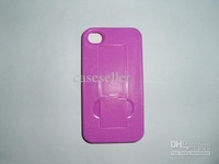 Hard plastic stand cases holder holster anti - dust cover For phone 4S 4G 4GS skin back case 10pcs
