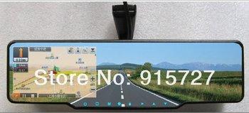 Rearview mirror GPS Bluetooth 4GB card maps+720P HD DVR+TF card+radar detector+parking radar+wireless reversing camera